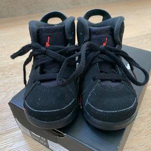 Nike Shoes - Jordan Retro 6, Black/Infrared, Size 6C